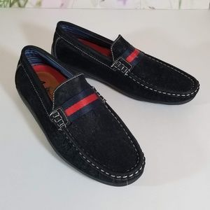 Boys Black Loafers`